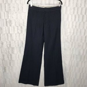 Anthropologie Wool Pin Striped Wide Leg Trousers